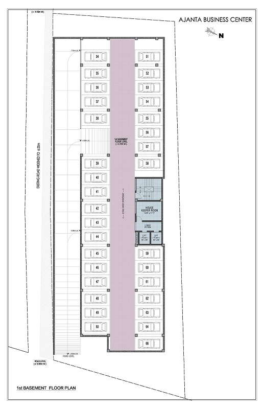 1st Basement Floor Plan - Third Floor Plan - ajanta business centre