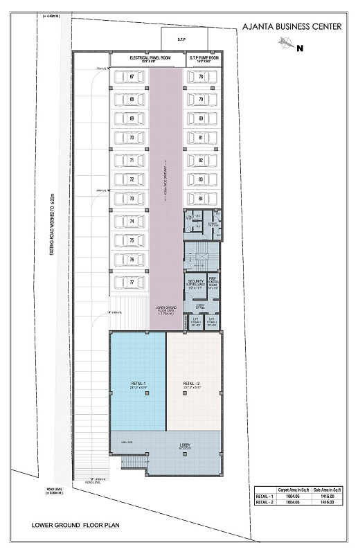 Lower Ground Floor Plan - ajanta business centre