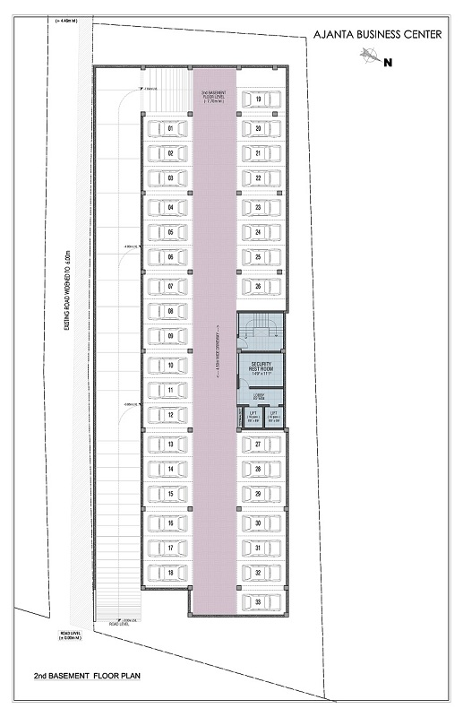 2nd Basement Floor Plan - ajanta business centre