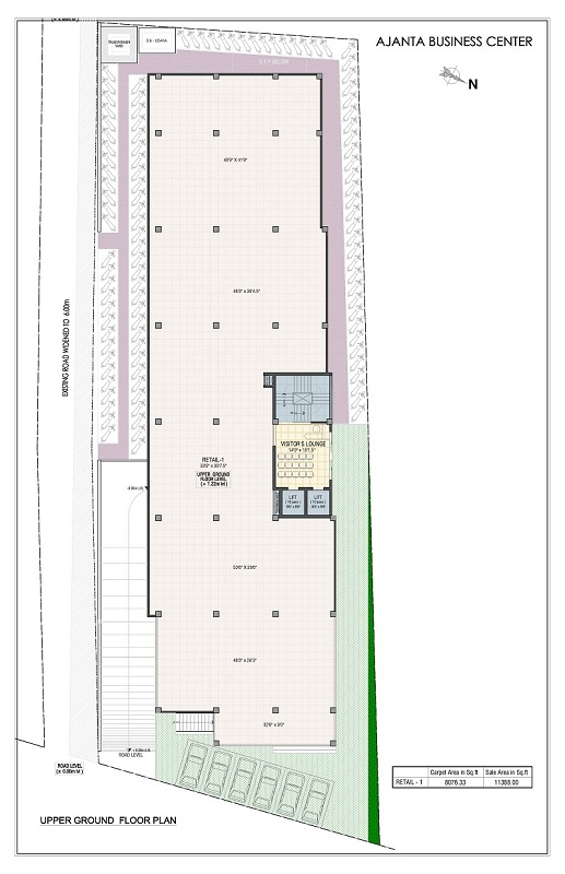 Upper Ground Floor Plan - ajanta business centre]