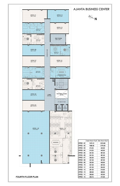 Fourth Floor Plan - ajanta business centre