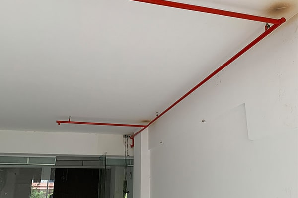 Office tiles laid within office