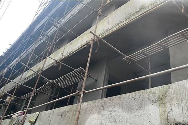 External Plastering Work In Progress