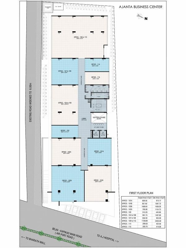 Ajanta Commercial First Floor Plan