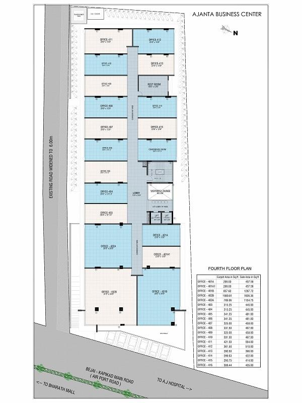 Ajanta Commercial Fourth Floor Plan