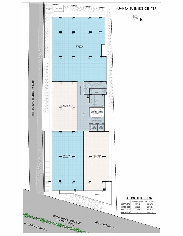 Ajanta Commercial Second Floor Plan