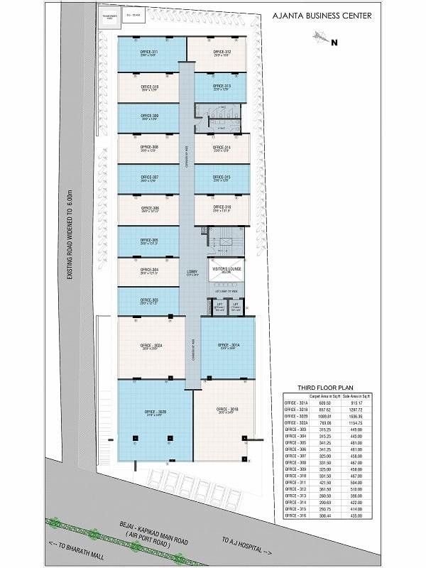 Ajanta Commercial Third Floor Plan