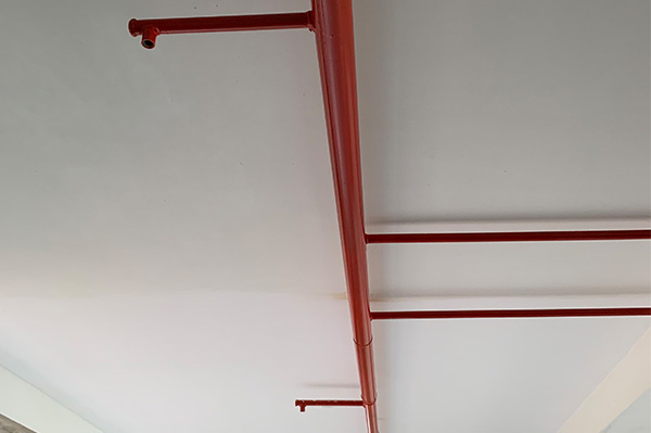 Firefighting line installed on the corridor